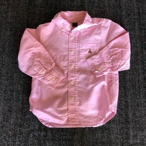 Gap pink dress shirt size 3T
